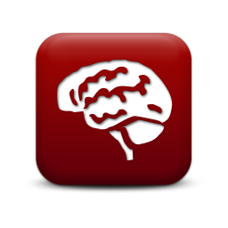 icon red brain